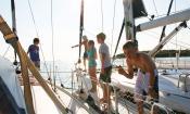 Die Bootscrew beim Manövrieren